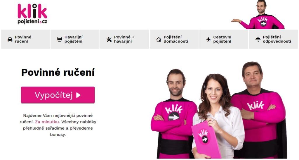 Logo webu Klik pojištění.cz