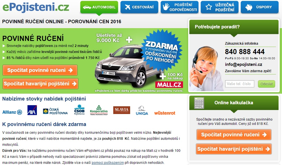 Epojištění.cz - povinné ručení