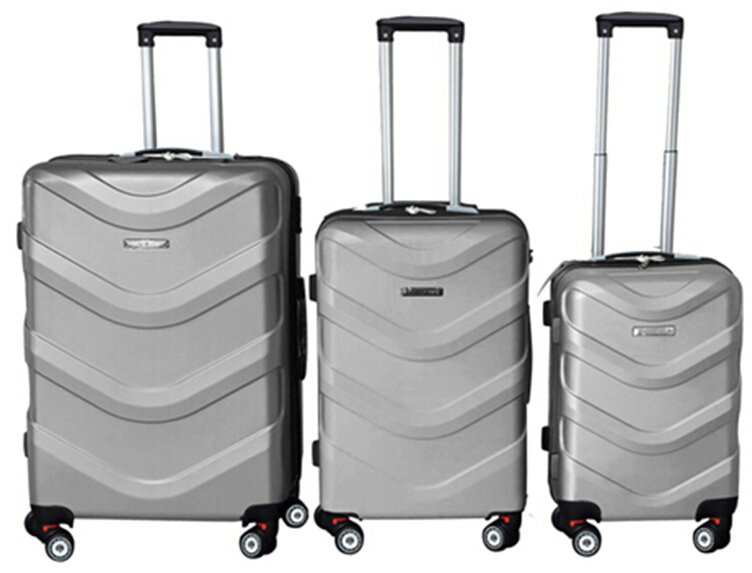 Leonardo Sada kufrů ABS stříbrná
