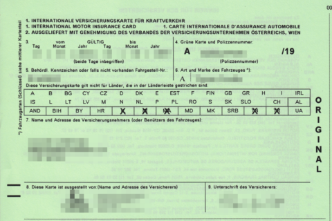 Zelená karta - vozit originál nebo duplikát? - náhledový obrázek