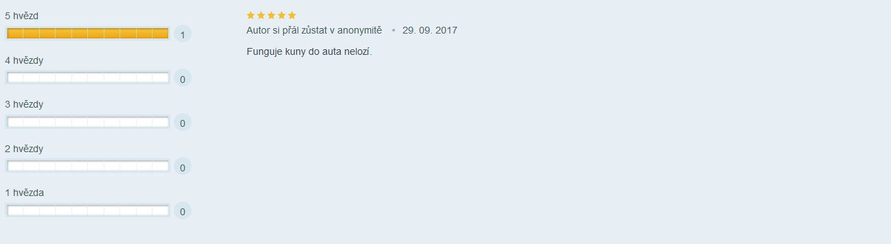 Recenze: Plašič kun pro automobily - recenze