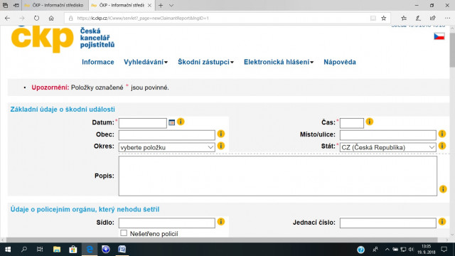 česká kancelář pojistitelů