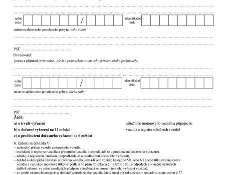 Uložení SPZ do depozitu: návod, formulář a cena