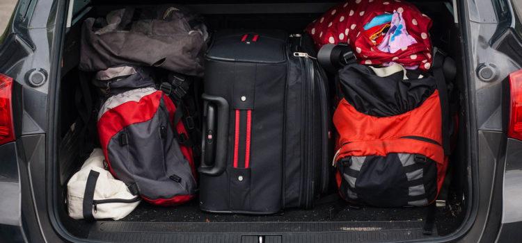 auto připravené na dovolenou