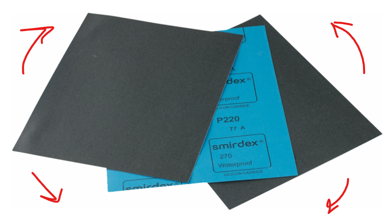 brusný papír p1000